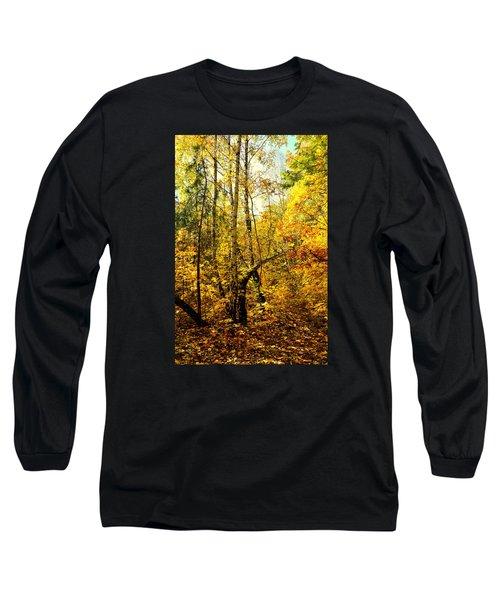 Birch Autumn Long Sleeve T-Shirt by Henryk Gorecki