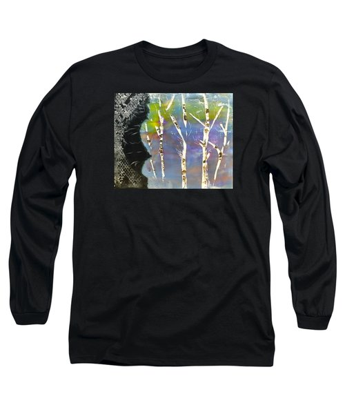 Birches In Wax Long Sleeve T-Shirt