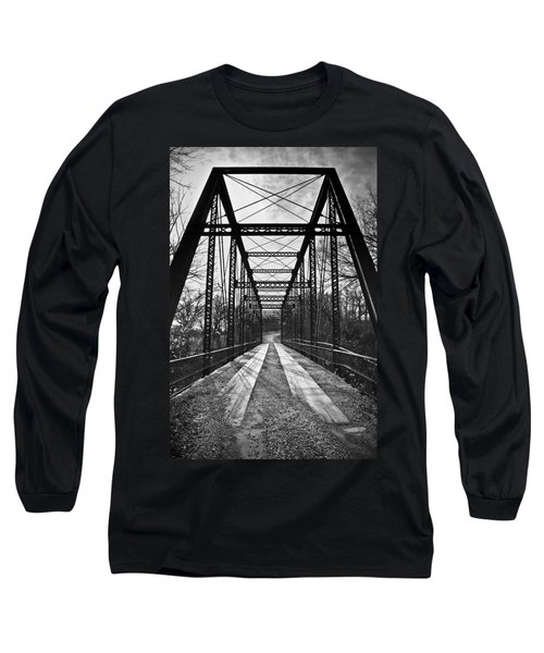 Bird Bridge Black And White Long Sleeve T-Shirt