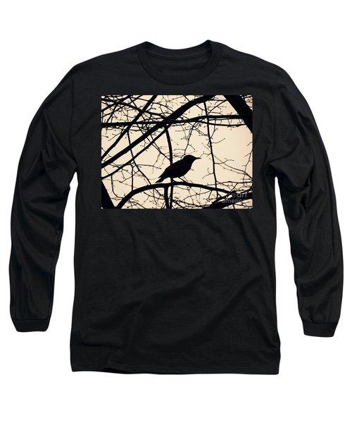 Bird Silhouette Long Sleeve T-Shirt by Sarah Loft