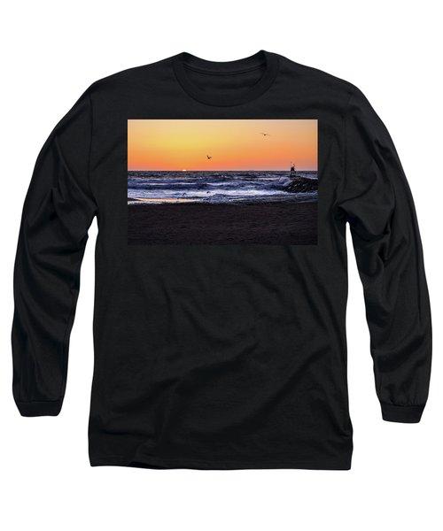 Birds At Sunrise Long Sleeve T-Shirt
