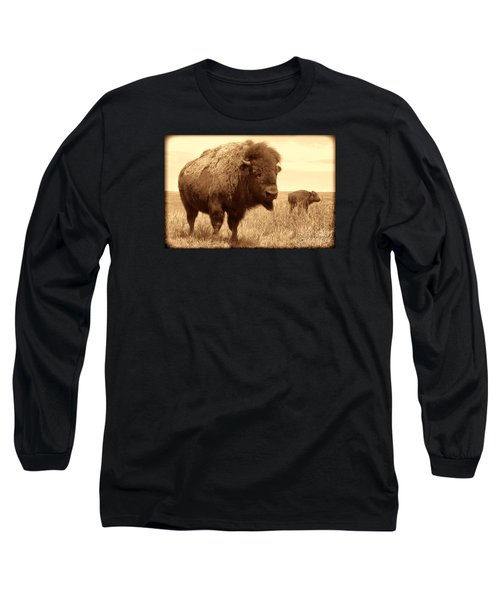Bison And Calf Long Sleeve T-Shirt