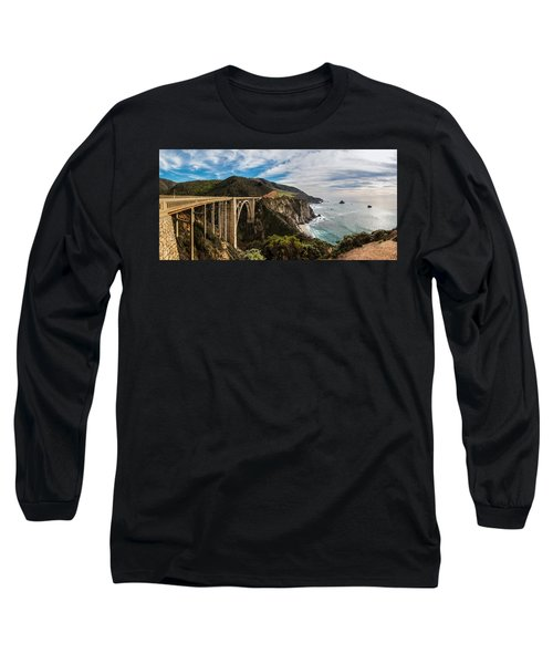 Bixby Creek Bridge Big Sur California  Long Sleeve T-Shirt by John McGraw
