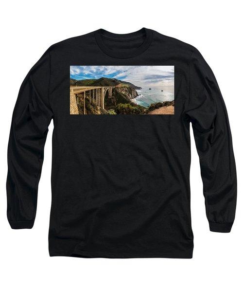 Bixby Creek Bridge Big Sur California  Long Sleeve T-Shirt