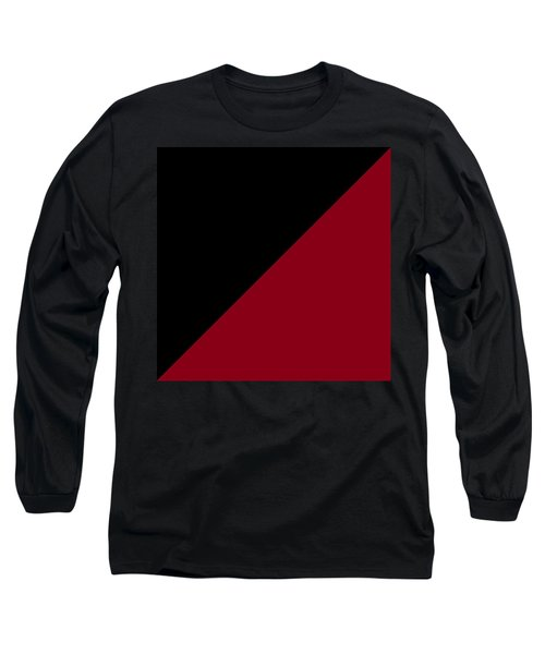 Black And Burgundy Triangles Long Sleeve T-Shirt