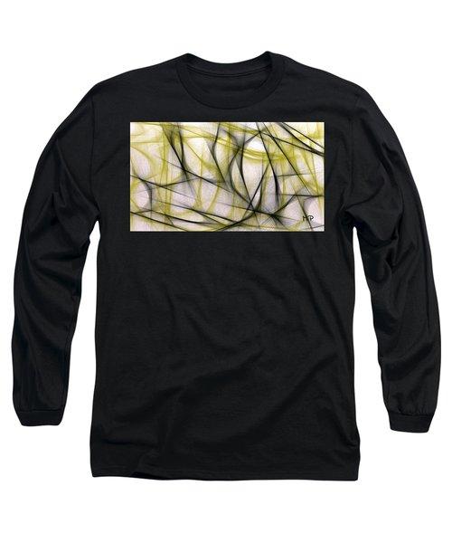Black And Green Abstract Long Sleeve T-Shirt