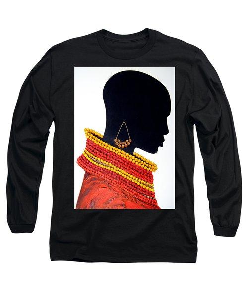 Black And Red - Original Artwork Long Sleeve T-Shirt