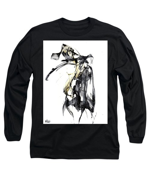 Black And White Abstract Expressionism Series 7344.072009 Long Sleeve T-Shirt by Kris Haas