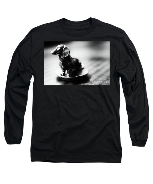 Black And White Brass Dachshund Long Sleeve T-Shirt
