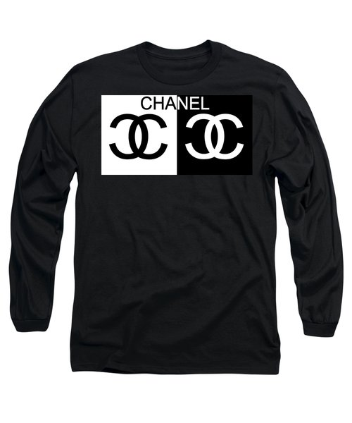 Black And White Chanel Long Sleeve T-Shirt
