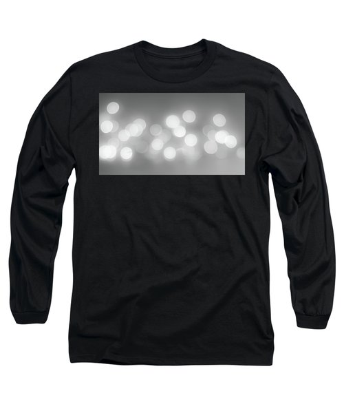 Black And White Circle Abstract  Long Sleeve T-Shirt by Terry DeLuco