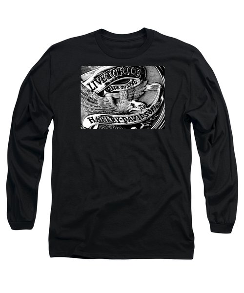 Black And White Emblem Long Sleeve T-Shirt by Chris Berry