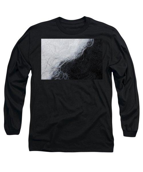 Black And White Fibers - Yin And Yang Long Sleeve T-Shirt