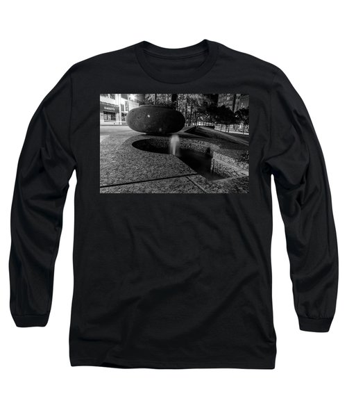 Black And White Fountain Long Sleeve T-Shirt