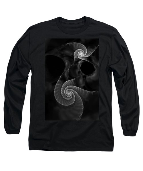 Black And White Fractal 080810 Long Sleeve T-Shirt