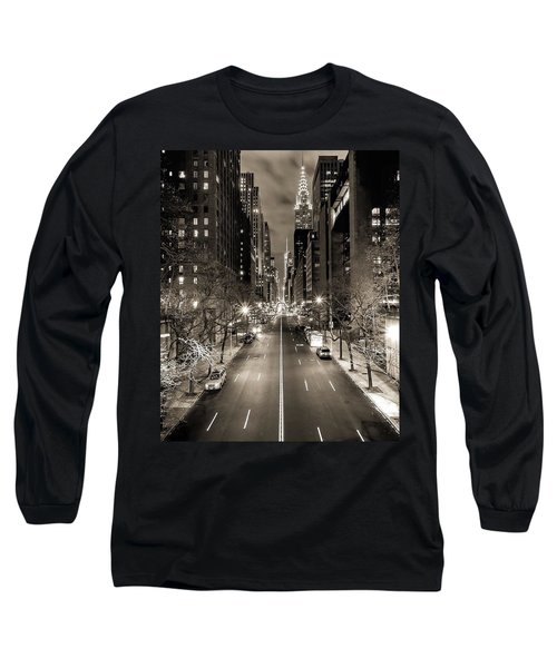 Black And White New York Long Sleeve T-Shirt