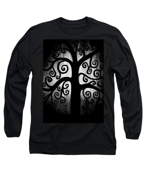Black And White Tree Long Sleeve T-Shirt