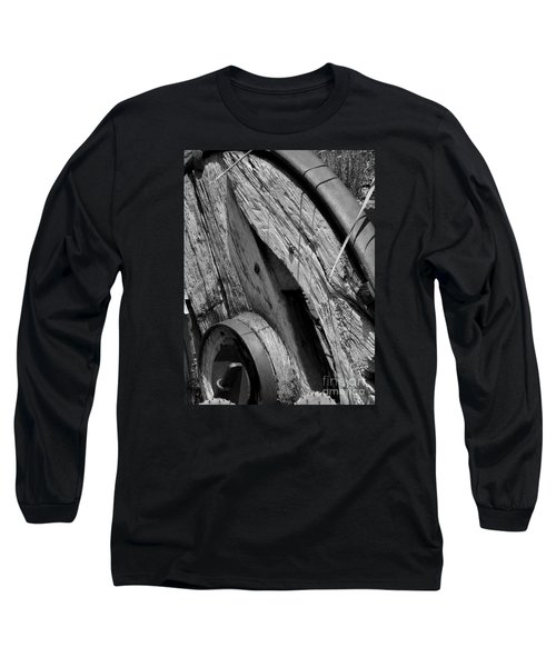 Black And White Wagon Wheel 1 Long Sleeve T-Shirt