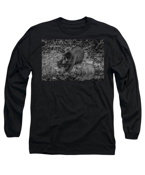 Black Bear Salmon Seeker Long Sleeve T-Shirt