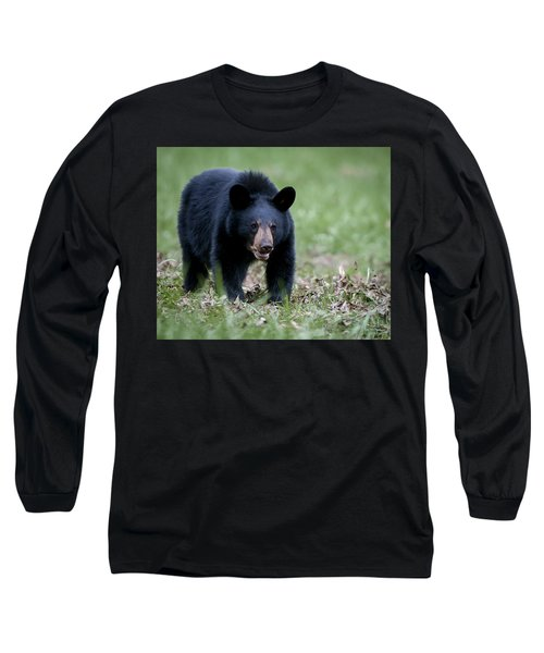 Long Sleeve T-Shirt featuring the photograph Black Bear by Tyson and Kathy Smith