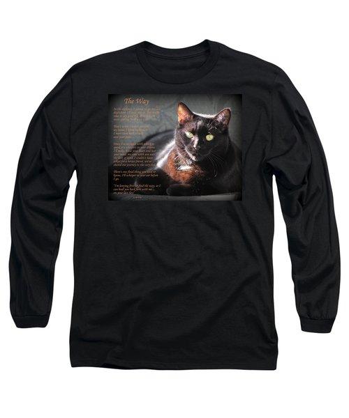 Black Cat The Way Long Sleeve T-Shirt