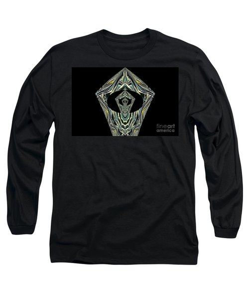 Black Enigma Long Sleeve T-Shirt by Oksana Semenchenko