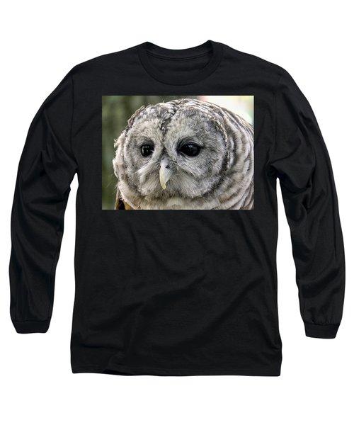 Black Eye Owl Long Sleeve T-Shirt