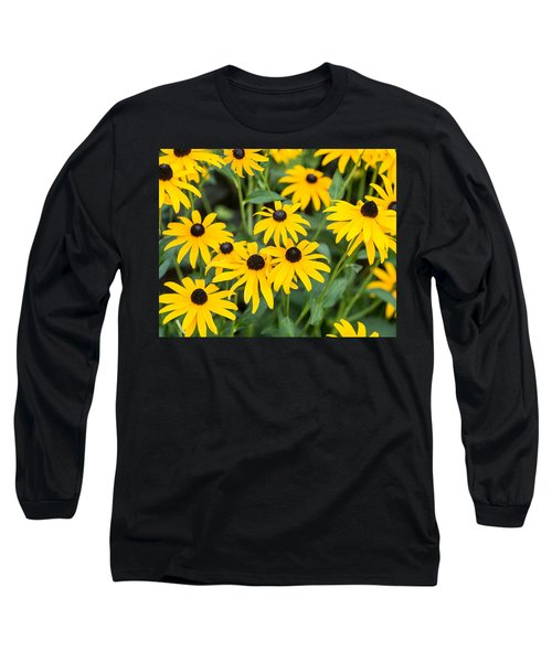 Long Sleeve T-Shirt featuring the photograph Black-eyed Susan Up Close by E Faithe Lester