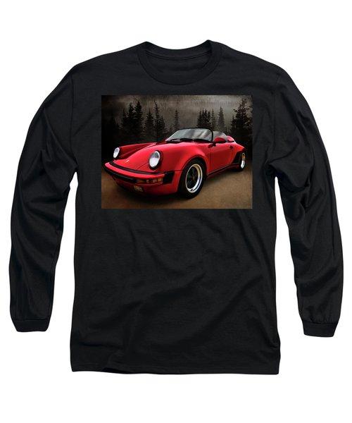 Black Forest - Red Speedster Long Sleeve T-Shirt by Douglas Pittman
