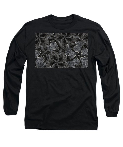 Long Sleeve T-Shirt featuring the photograph Black Granite Kaleido 3 by Peter J Sucy