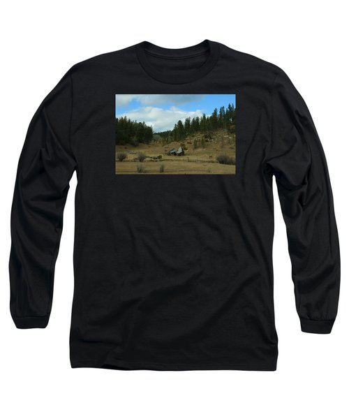 Black Hills Broken Down Cabin Long Sleeve T-Shirt