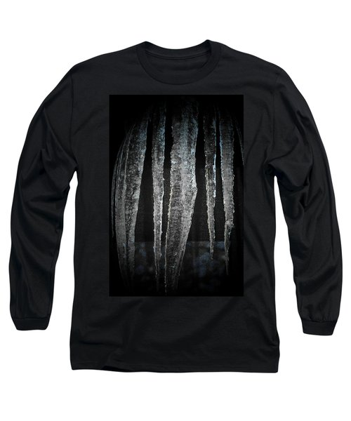 Long Sleeve T-Shirt featuring the digital art Black Ice by Barbara S Nickerson