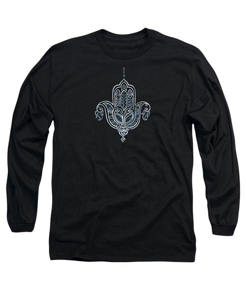 Black Khamsa Long Sleeve T-Shirt