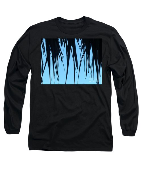 Black Palms On Blue Sky Long Sleeve T-Shirt
