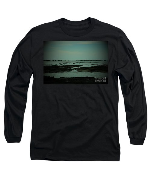 Black Rock Beach Long Sleeve T-Shirt by Mini Arora