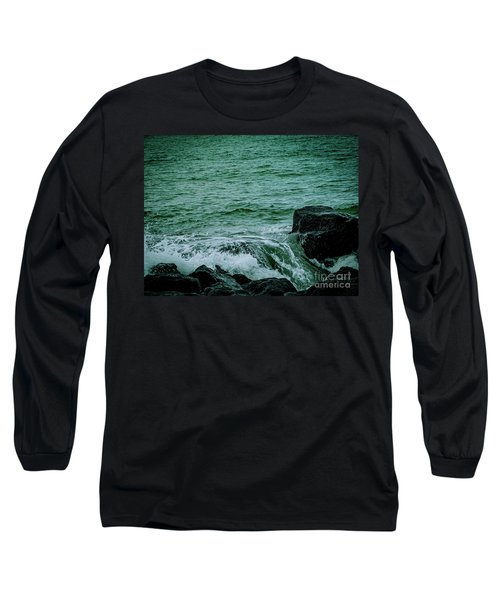 Black Rocks Seascape Long Sleeve T-Shirt