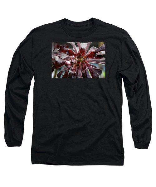 Black Rose Long Sleeve T-Shirt by Deborah  Crew-Johnson