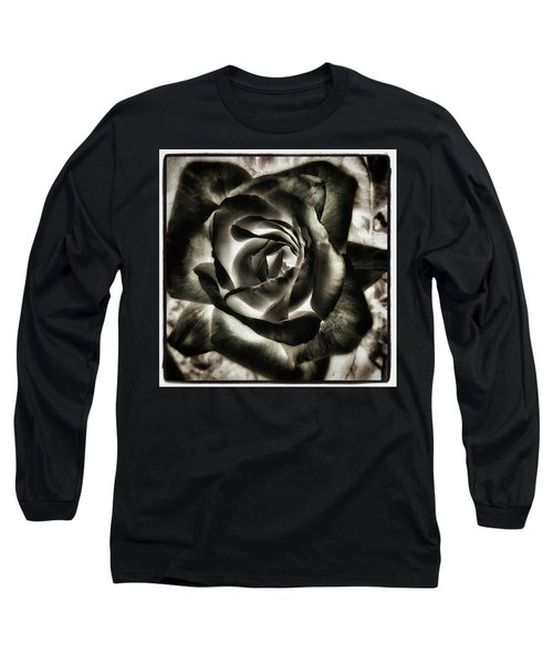 Long Sleeve T-Shirt featuring the photograph Black Rose. Symbol Of Farewells by Mr Photojimsf