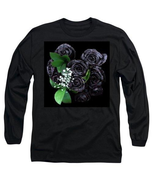 Black Roses Bouquet Long Sleeve T-Shirt