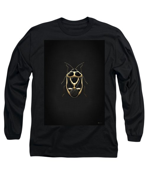 Black Shieldbug With Gold Accents  Long Sleeve T-Shirt