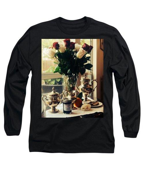 Blackberry Lust Jam Morning Long Sleeve T-Shirt