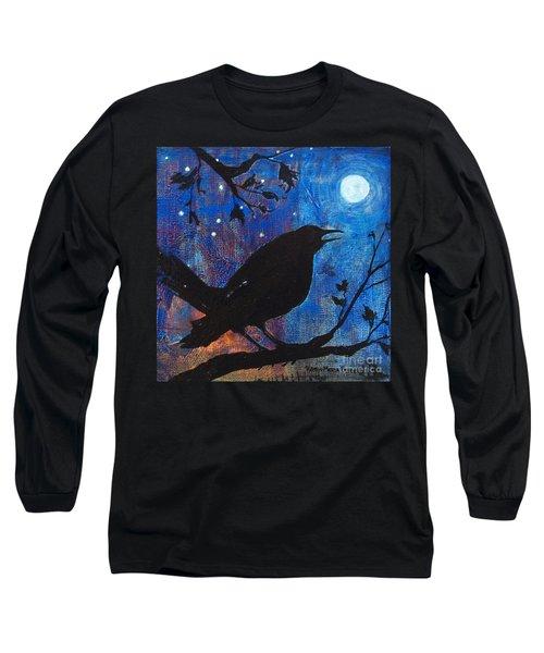 Blackbird Singing Long Sleeve T-Shirt by Robin Maria Pedrero