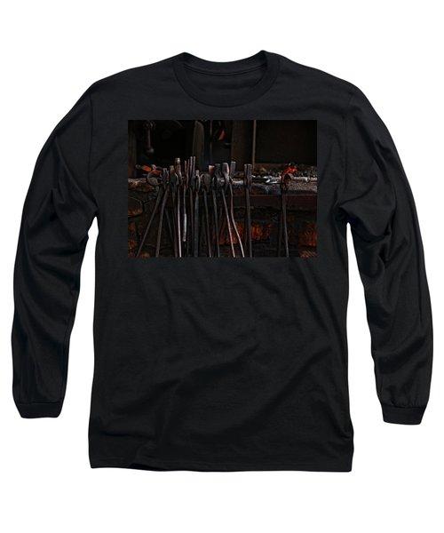 Blacksmith Tools Long Sleeve T-Shirt by Rowana Ray