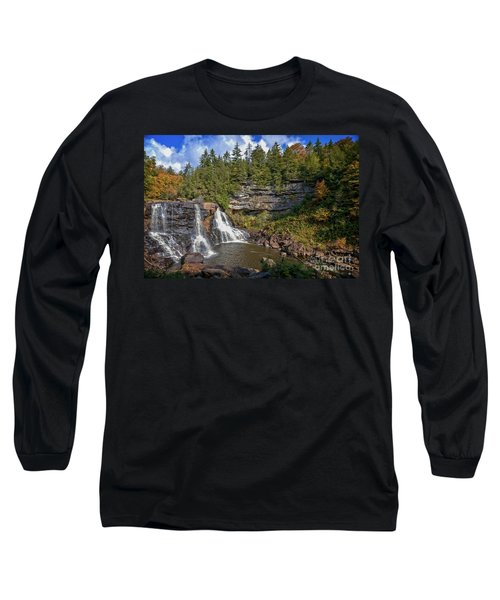 Blackwater Falls  In Autumn 3879c Long Sleeve T-Shirt