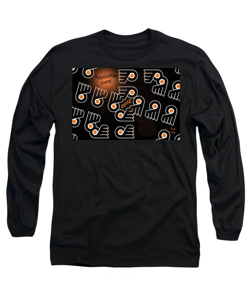 Bleeding Orange And Black - Flyers Long Sleeve T-Shirt