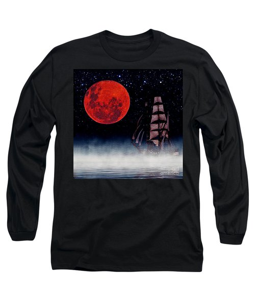 Blood Moon Long Sleeve T-Shirt by Blair Stuart