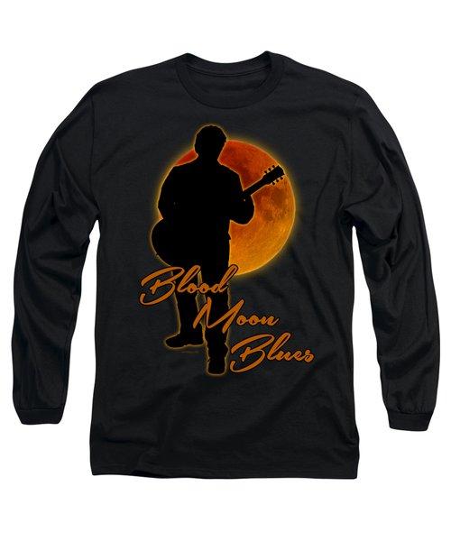 Blood Moon Blues T Shirt Long Sleeve T-Shirt by WB Johnston