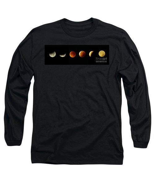 Blood Moon Phases Long Sleeve T-Shirt by Rudi Prott