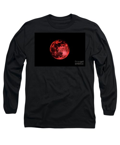 Blood Red Moonscape 3644b Long Sleeve T-Shirt