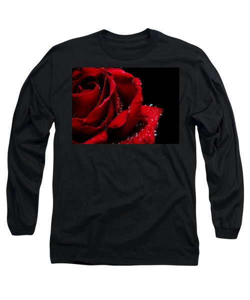 Blood Red Rose Long Sleeve T-Shirt
